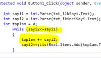 Asp.NET Do While – While Döngüsü Kullanımı Örnek