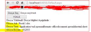 Asp.NET FileUpload Kullanımı Resimli Anlatım