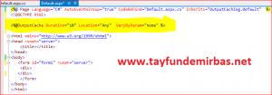 Asp.NET Output Cache-Önbellekleme Kullanımı