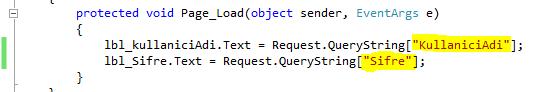 ASP.Net QueryString Kullanımı Resimli Anlatım