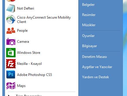 Windows 8 Başlat menüsü indir